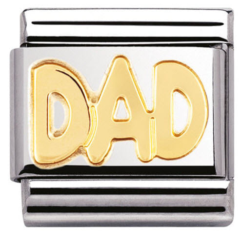 Nomination Charm Composable Classic Writing Dad Steel