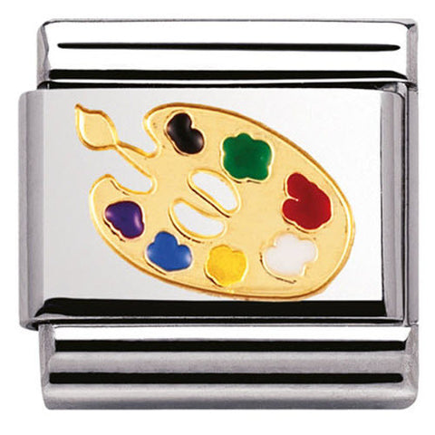 Nomination Charm Composable Classic Daily Life Artists Palette Steel