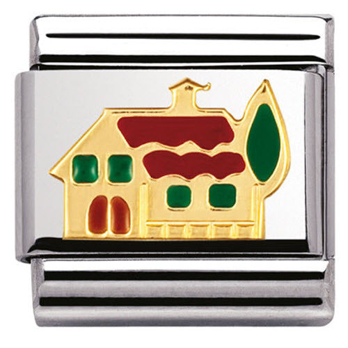 Nomination Charm Composable Classic Daily Life House Steel