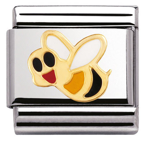 Nomination Charm Composable Classic Air Animals Bee Steel
