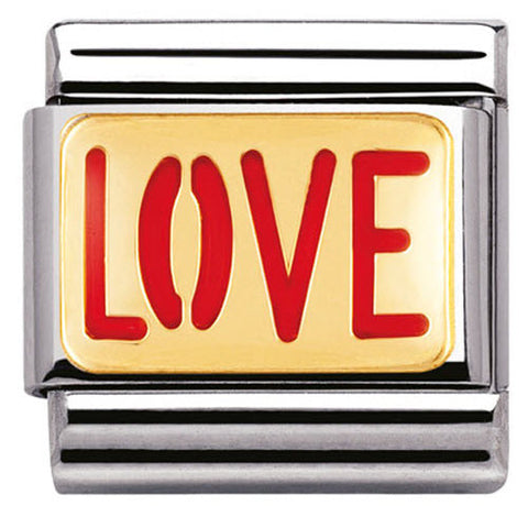 Nomination Charm Composable Classic Messages Love Steel