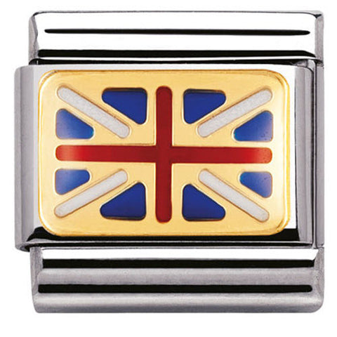 Nomination Charm Composable Classic Europe Flag Great Britain Steel