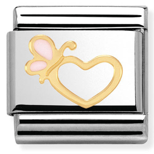 Nomination Charm Composable Classic Love 1 Love Heart With Butterfly Steel