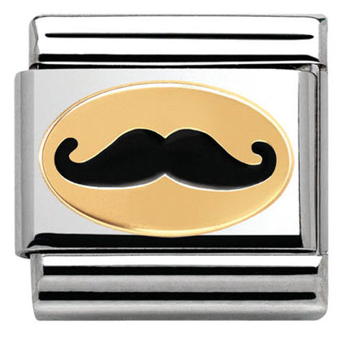 Nomination Charm Composable Madame & Monsieur Link Monsieur Moustache Steel