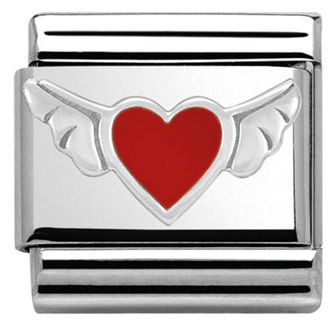 Nomination Charm Composable Classic Symbols Heart Wings Steel