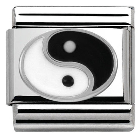 Nomination Charm Composable Classic Symbols Ying Yang Steel