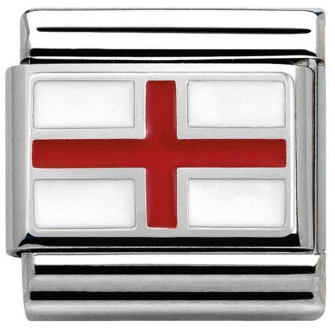Nomination Charm Composable Flags England Steel