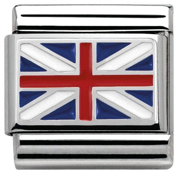 Nomination Charm Composable Flags Union Jack Steel