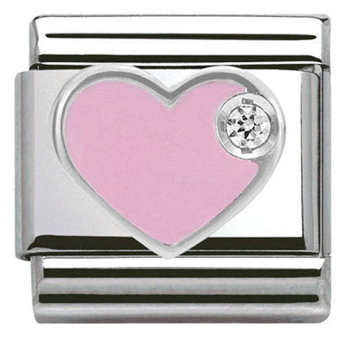 Nomination Charm Composable Classic Symbols Pink Heart Steel