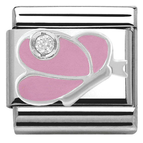 Nomination Charm Composable Classic Symbols Pink Butterfly Steel