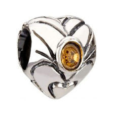 Chamilia Charm Birthstone Heart November