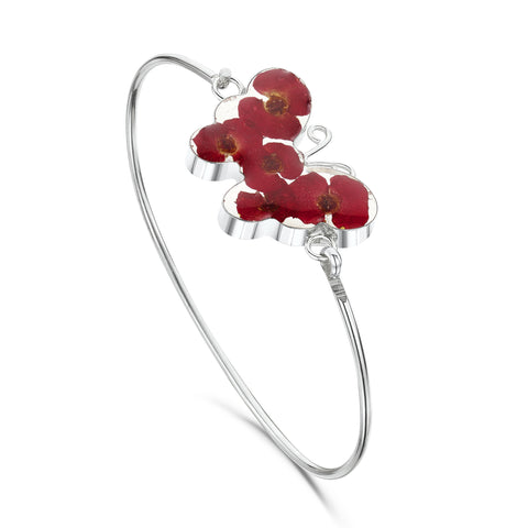 Shrieking Violet Bangle Poppy Butterfly Silver