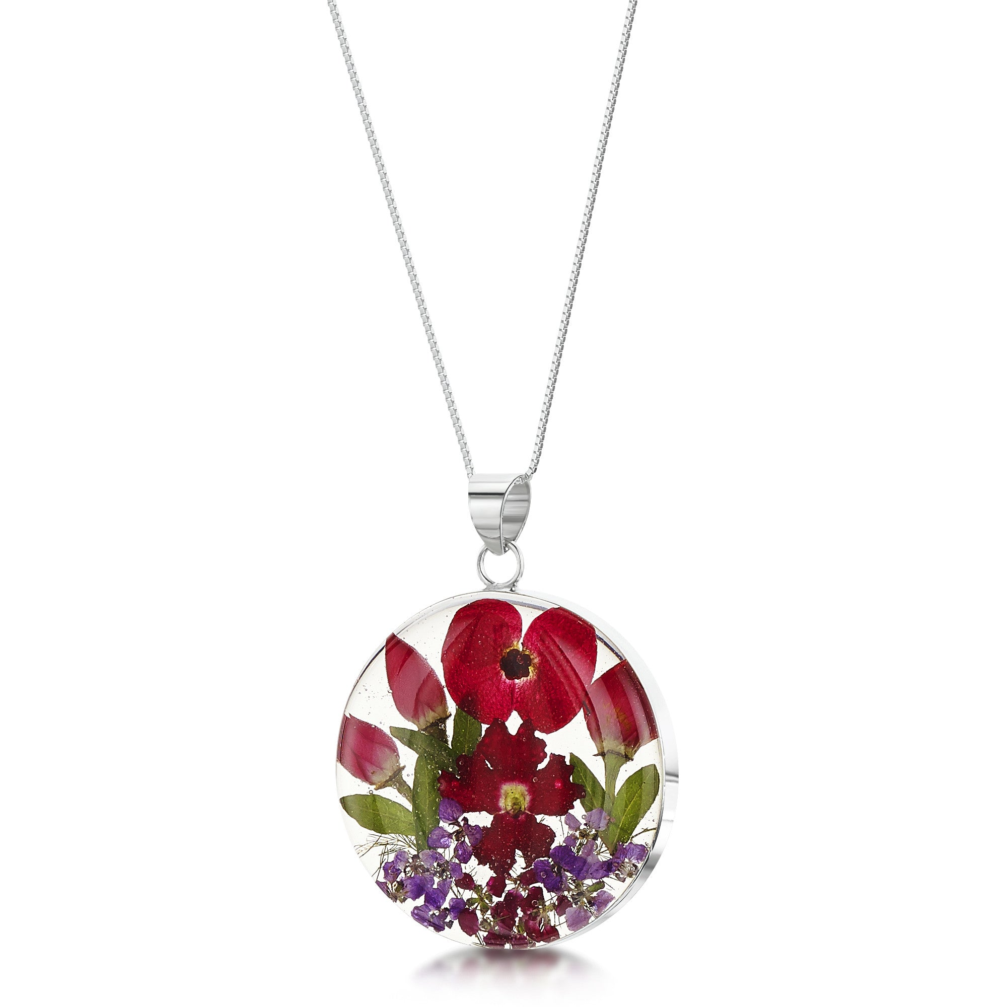 Shrieking Violet Necklace Bohemia Round Poppy & Rose Silver