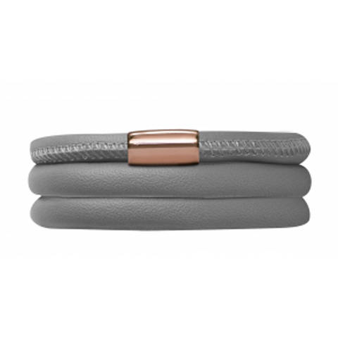 Endless Jewellery Bracelet Grey Leather 57 cm