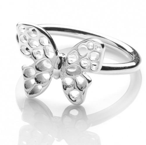 Rachel Galley Sterling Silver Flutter Butterfly Ring