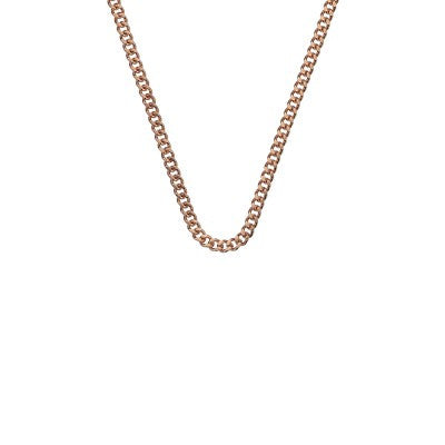 Emozioni Necklace Rose Gold Curb Chain