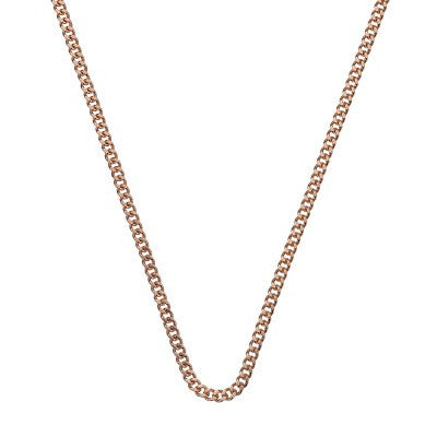 Emozioni Necklace Rose Gold Curb 35mm Chain