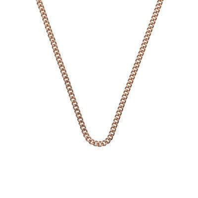 Emozioni Necklace Rose Gold Curb 30mm Chain