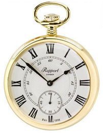 Rapport Pocket Watch Mechanical Open Face Gold Plated PW22