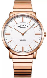 Rotary Watch London Expander Rose Gold PVD Mens GB02767/02