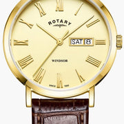 Rotary Watch Windsor Gold PVD Plated Mens GS05303/09