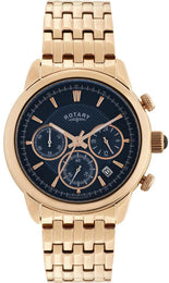 Rotary Watch Gents Gold Plated Bracelet GB02879/05