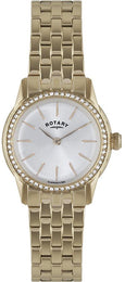 Rotary Watch Ladies Gold Plated Bracelet LB02573/01L