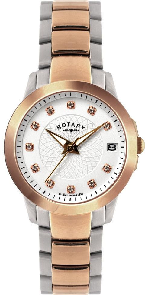 Rotary Watch Ladies Two Tone Bracelet LB02837/41