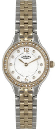 Rotary Watch Ladies Two Tone Bracelet LB02868/01