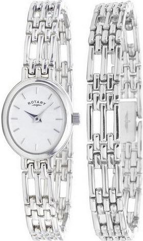 Rotary Watch Ladies Precious Metal LB20061/BR/02