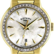 Rotary Watch Ladies Gold PVD Bracelet LB02845/40