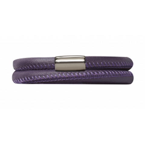 Endless Jewellery Bracelet Purple Leather 36cm