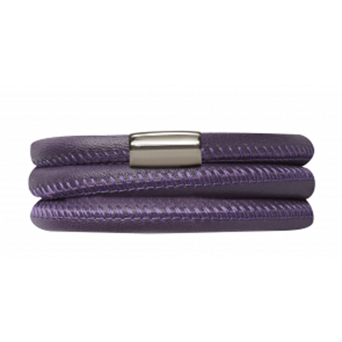 Endless Jewellery Bracelet Purple Leather 54 cm