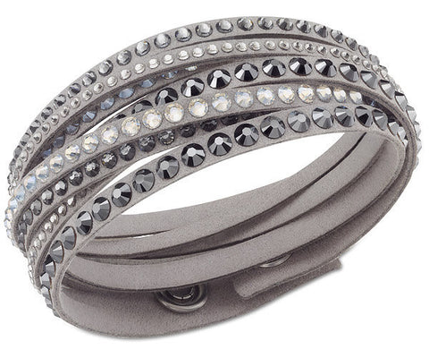 Swarovski Bracelet Slake Deluxe Grey Synthetic