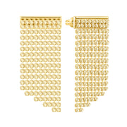 Swarovski Yellow Gold Gold Crystal Fit Earrings