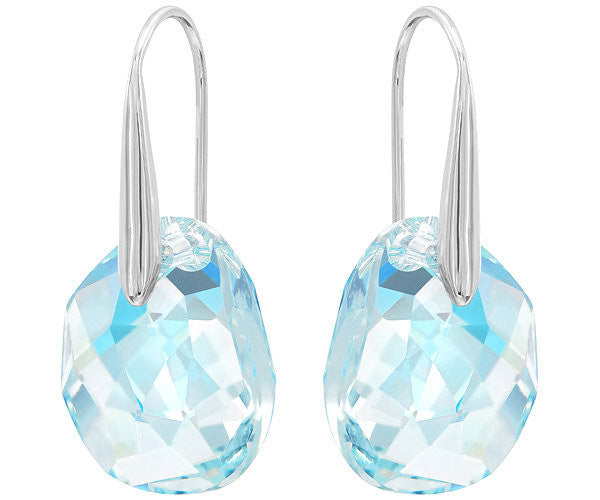 Swarovski Earrings Galet Pierced Rhodium