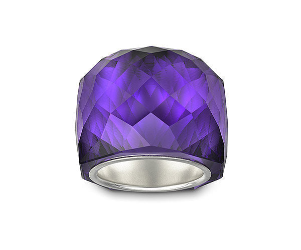 Swarovski Ring Nirvana Purple Velvet Silver