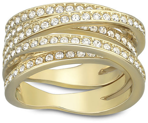 Swarovski Ring Spiral Yellow Gold