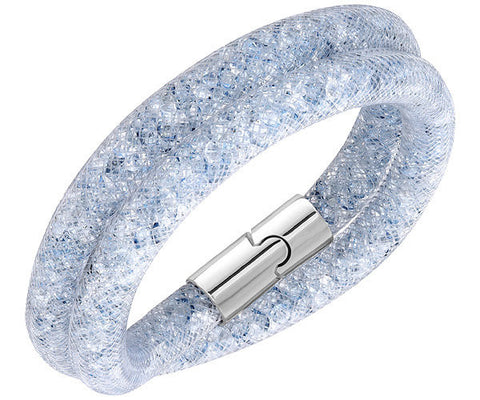 Swarovski Bracelet Stardust Grey Double Synthetic