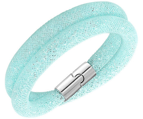 Swarovski Bracelet Stardust Light Blue Double Synthetic