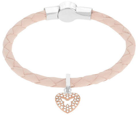 Swarovski Bracelet Butterfly Heart Set Leather