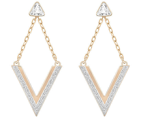 Swarovski Earrings Delta Pierced Rose Gold
