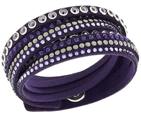 Swarovski Bracelet Slake Rock Purple Synthetic