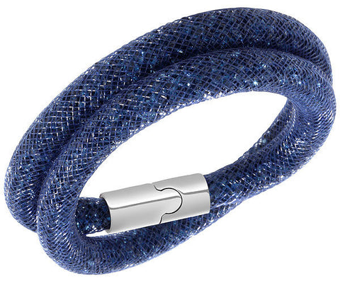 Swarovski Bracelet Stardust Blue Double Synthetic