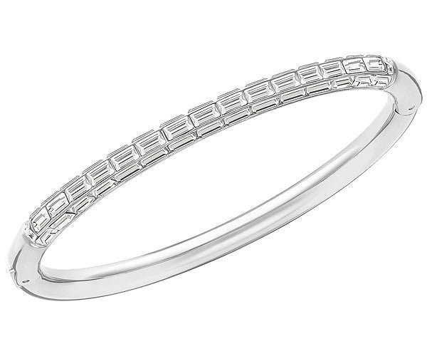 Swarovski Bangle Domino Rhodium Medium