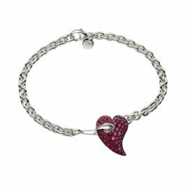 Shaun Leane Bracelet Hook My Heart Red Topaz Silver