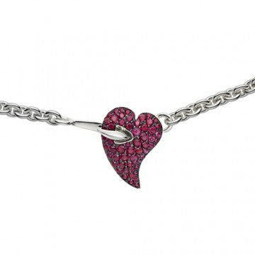 Shaun Leane Necklace Hook My Heart Red Topaz Silver SLS005