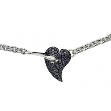 Shaun Leane Necklace Hook My Heart Black Spinel Silver