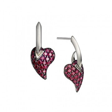 Shaun Leane Earrings My Heart Red Topaz Silver