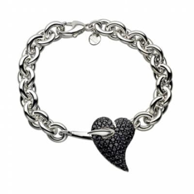 Shaun Leane Bracelet Hook My Heart Black Spinel Silver